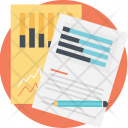 Graph Analysis Financial Icon