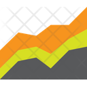 Graph Chart Stacked Area Chart Area Chart Icon