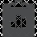 Graph Clipboard Icon