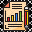 Paper Graph Document Icon