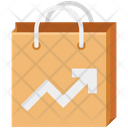Graph On Tote Bag Icon