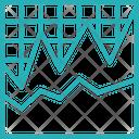 Graph Paper Chart Icon