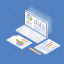 Graph Presentation Charting Application Online Graph Icon