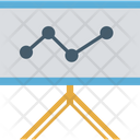 Graph Presentation Growth Graph Analysis Icon