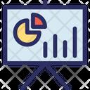 Graph Presentation Presentation Easel Board Icon