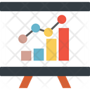 Graph Presentation Business Analytics Business Growth Icon