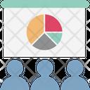 Graph Presentation Digital Marketing Presentation Training Icon