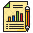 File Report Bar Graph Icon