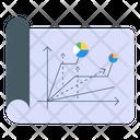 Graph Report Statistics Diagram Icon