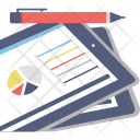 Graph Report Analytical Icon