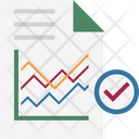 Graph Report Line Graph Bar Graph Icon