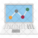Laptop Analytics Computer Analytics Icon