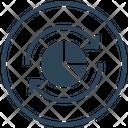Sync Graph Big Data Icon