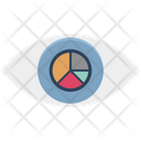 Visibility Pie Graph Eye Icon