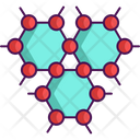 Graphene Atom Nano Technology Icon