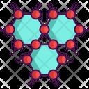 Graphene Hexagon Hexagonal Icon