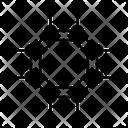 Graphene Octagonal Hexagone Icon