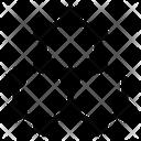 Graphene Technology Nanotechnology Hexagon Grid Icon