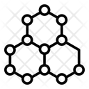 Graphene Technology Nanotechnology Hexagon Grid Icon