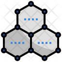Graphene Technology Carbon Honeycomb Icon