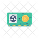 Gpu Bitcoin Graphic Card Icon