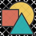 Graphic Triangle Circle Icon