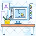 Artwork Graphic Designing Motion Design Icon