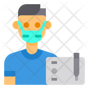 Graphic Designer Avatar Mask Icon