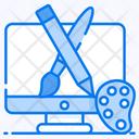 Graphic Designing Digital Artwork Web Designing Icon