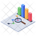 Graphical Analysis Finance Graph Statistical Data Icon