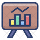 Graphical Business Presentation Growth Analysis Sales Report Icon