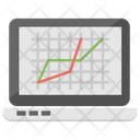 Graphical Chart Analytics Evaluation Chart Icon