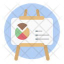 Graphical Presentation Analytics Presentation Board Icon