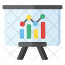 Data Analytics Graphical Presentation Business Report Icon