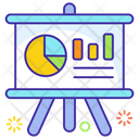 Graphical Presentation Data Analytics Easel Board Icon