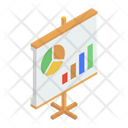 Graphical Presentation Growth Chart Business Analytics Icon