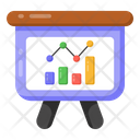 Graphical Presentation Business Presentation Data Analytics Icon