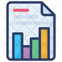 Graphical Report Data Visualization Frequency Diagram Icon