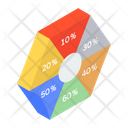 Business Infographic Graphical Visualization Pie Chart Icon