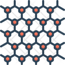 Graphene Atomic Scale Hexagonal Icon
