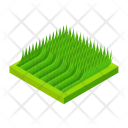 Flattened Grass Greenery Icon