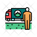Grass Lawn Delivery Icon