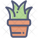 Grass Plant Pot Icon