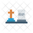 Grave Tombstone Rip Icon