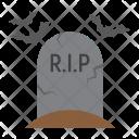 Tombstone Grave Bat Icon