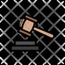 Law Court Hammer Icon