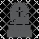 Gravestone Halloween Scary Icon