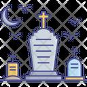 Gravestone Funeral Spooky Graveyard Icon