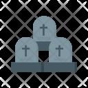Graveyard Halloween Cross Icon