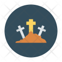 Graveyard Tombstone Coffin Icon